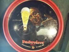 "1940s Drink Budweiser Beer 13"" Serving Tray Butler Waiter EA-7"