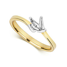 0.50Ct Diamond Solitaire Engagement Ring/Mount 9ct Yellow Gold UK Hallmarked