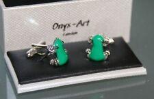 Novelty Cufflinks - Green Frog Design - *Boxed*