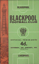 Liverpool  at BLACKPOOL Official Programme 2 January 1965