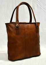 vintage leather  real leather ladies handbag tote for girls handmade boho bag