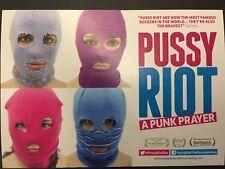 PUSSY RIOT, A PUNK PRAYER Promo Film Postcard  MINT RUSSIA PUTIN