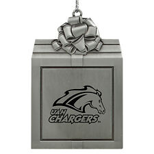 University of Alabama in Huntsville -Pewter Christmas Holiday Ornament-Silver