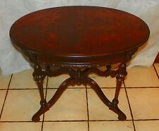Oval Walnut Book Match Veneer Coffee Table  (CT167)