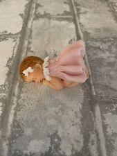edible,  sleeping baby  Girl cake topper Birthday Christening Baby Shower