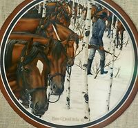 """Bev Doolittle Original Watercolor Painting Panel One """"Two More Indian Horses"""""""