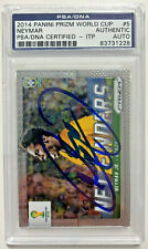 Neymar Signed 2014 Panini Prizm World Cup #5 PSA DNA GEM MT 10 ITP AUTO Brazil