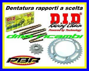 Kit Trasmissione KTM DUKE 690 12>13 catena corona pignone PBR DID VX2 2012 2013