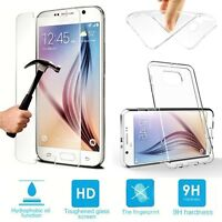 CLEAR GEL CASE & TEMPERED GLASS SCREEN PROTECTOR FOR SAMSUNG GALAXY A3 2016 A310