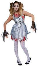 Naughty Ladies Halloween Broken Rag Doll Fancy Dress Costume Zombie Ghost Outfit