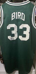 Larry Bird #33 Signed Boston Celtics Jersey JSA Authentic Auto Autographed