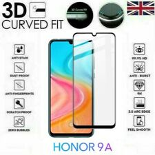 For Huawei Honor 9A Full 3D Tempered Glass 9H Screen Protector Cover Black/Clear