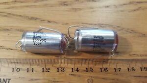 2 x Suflex 24000pF  24n  0.024uF  350v DC 2% polystyrene capacitor