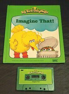 TALKING BIG BIRD STORY MAGIC STORY IDEAL BOOK /TAPE IMAGINE THAT!  WORKS