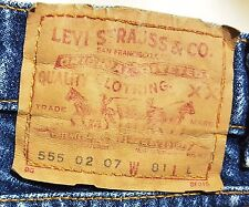 LEVI STRAUSS Original 555 Straight LEVI'S JEANS W81 L L -  Pre-Owned Uni-sex