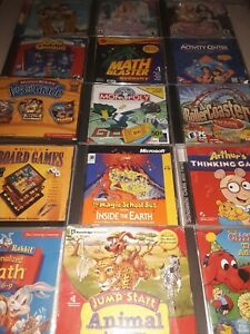 Lot of 15 Video Game PC Game Games! Computer Disney Vintage Kids Learning, #175C