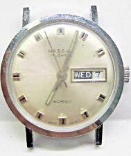 Vintage Gents Winton Day/Date /2nd hand Stainless Steel Wrist Watch 17 jewels