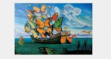 H354 Art Salvador Dali Ship with Butterfly Sails Poster 20x30 24x36