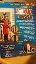 Magic Mesh Deluxe Hands-Free Screen Door with Magnets New Item #Mm011124