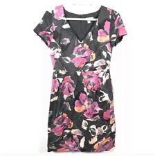 BANANA REPUBLIC - WOMEN'S 0 - PINK & GRAY FLORAL MADMEN CAREER LINED DRESS