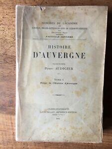(généalogie, Auvergne) Pierre AUDIGIER : Histoire d'Auvergne, 1894.
