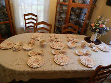 Johnson Bros China Rose Chintz Dinnerware Set for 8 w/6 Serving Pieces BW5-2