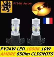 2x PY24W LED 21 SMD 10W 12V Jaune Ambre 1800k 850Lm Clignotants CITROËN C6 BMW