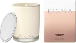 Ecoya Cedarwood and Leather Madison Jar Candle 400g