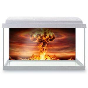 Fish Tank Background 90x45cm - Nuclear Mushroom Cloud Bomb War  #16306