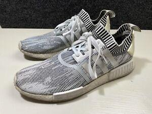 Adidas NMD R1 PK Glitch Camo White Black Oreo Sneakers Size 12  BY1911
