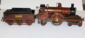 O Gauge 4-2-2 Locomotive and tender 1000 no box (156C)