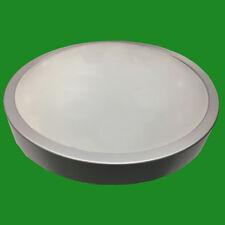 10W = 60W IP44 Round Circular Silver LED Ceiling Bathroom Light 4000K Zone 1,2,3