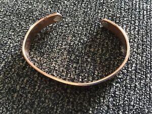 Vintage Sabona London Made in USA gilt copper cuff bracelet