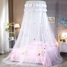 Bed Mosquito Netting Mesh Elegant Lace Canopy Princess Bedding Net Queen Size