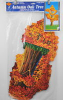 Beistle 4' Jointed Autumn Oak Tree Vintage 1996 package Fall Decor Ready to Hang