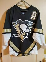 RARE Sewn Sidney Crosby True Rookie Retro CCM Pittsburgh Penguins Jersey Small