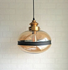 Modern Vintage Industrial Glass Globe Tint Lamp Shade Pendant Ceiling LED Light