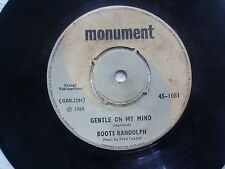 "BOOTS RANDOLPH  JACKSON/GENTLE ON MY MIND RARE SINGLE 7"" 45 RPM INDIA VG"