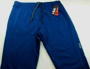 FILA Men's Athletic Pants XXL 2XL SPORT Blue Sweatpants Alpha Fleece Warm MRP$45
