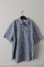 New With Tag Ecko plaid button down short sleeve blue dress shirt men's 6XB $50
