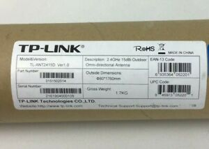 NEW TP-LINK TL-ANT2415D 2.4GHz 15dBi Outdoor Omni-directional Antenna