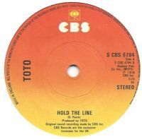 "Toto – Hold The Line  1978  CBS – S CBS 6784  7"" Vinyl 45rpm Ex Condition"