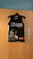 VINTAGE MAJESTIC MIKE BIBBY SACRAMENTO KINGS SEWN PICTURE YOUTH JERSEY SM 8