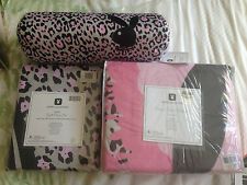NEW PLAYBOY QUILT SET DOUBLE + CORAL FLEESE MINK BLANKET 200CM x 150CM + CUSHION