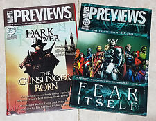 MARVEL PREVIEWS MAGAZINES ISSUE #40 #90 STEPHEN KING DARK TOWER AVENGERS COVERS