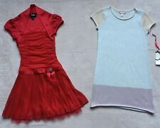Ruby & Bloom & By & By Girls Holiday Dresses, Sz 7, Red Gold Silver Pink Sparkly