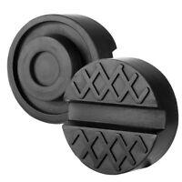 Black Slotted Frame Rail Floor Jack Disk Rubber Pad for Pinch Weld Side JACKPAD