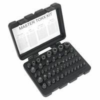 """Sealey Premier Torx Master Socket Bit Set Trx-Star S2 Steel 1/4"""" 3/8"""" 1/2"""" Drive"""