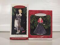 Lot of 2 Collectibles  Hallmark Barbie Keepsake Ornaments