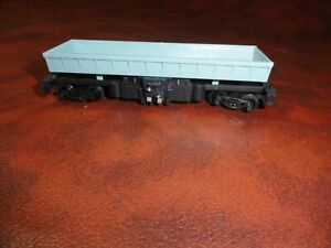 TYCO HO SCALE TRAIN BLUE OPERATING ORE LOG DUMP CAR